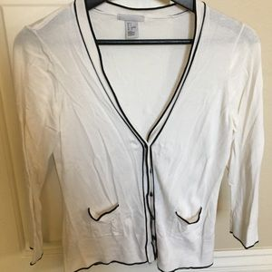 H&M off white cardigan 3/4 sleeves